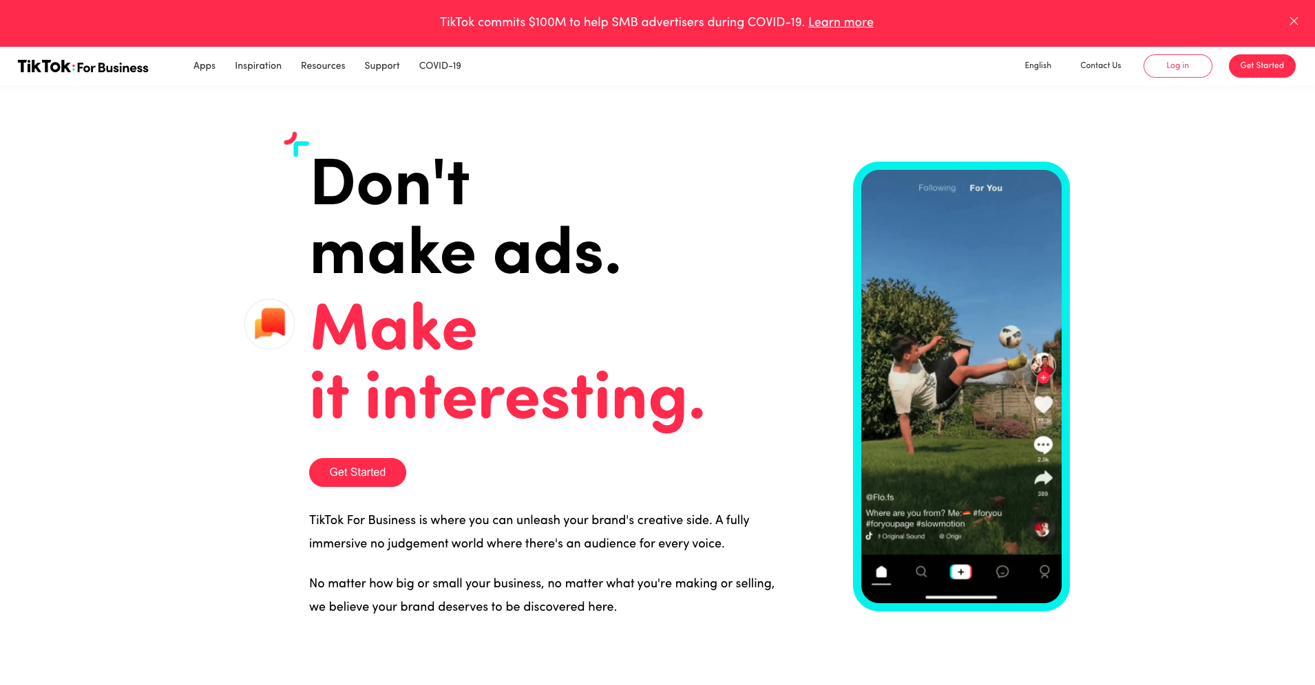 TikTok For Business - new feature
