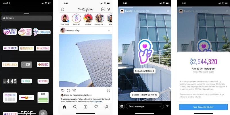 Instagram Stories - Donations Stickers